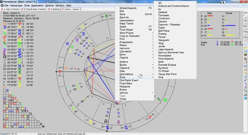 Professional software designed for current uranian astrology.